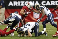 Defense vs the Cardinals via Associated Press