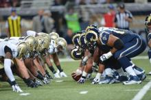 Rams and Saints go head to head. Via St. LouisRams